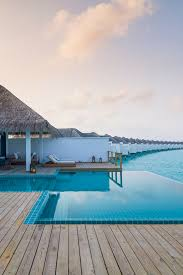 over water bungalows at finolhu in the maldives islands