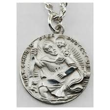 catholic medals st christopher pewter medal the catholic company