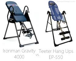 ironman gravity 4000 inversion table teeter hang ups ep 550 inversion table review