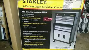 stanley tool chest cabinet stanley professional tool chest cabinet combo 6 drawer tools