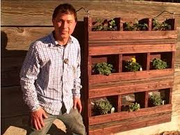 build a hanging vertical pallet garden to grow food on walls youtube