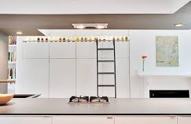 Kitchen Bookcases Custom Rolling Ladder Bookcase Home Office Contemporary With