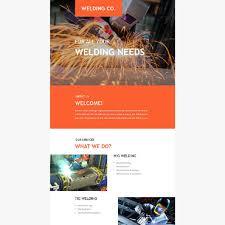 welding company website templates
