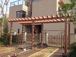 low cost wood plastic pergola supplier wpc landscape