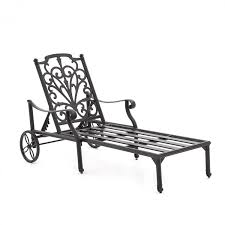 Outdoor Chaise Lounges Evangeline Cast Aluminum Patio Chaise Lounge By Lakeview Outdoor