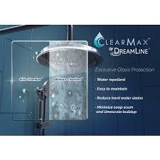 non glass shower doors dreamline unidoor lux 53 56 in frameless hinged shower door non