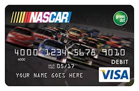 reloadable credit card green dot nascar reloadable prepaid visa card credit