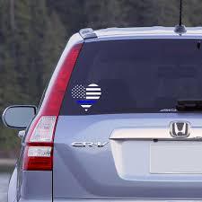 Car Window Flags Thin Blue Line Heart Flag Car Window Decal Police Decal Love