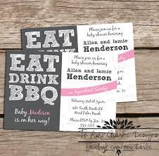 bbq baby shower te amo eat drink bbq baby shower invitations