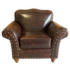 Cream Leather Club Chair Western Leather Furniture U0026 Cowboy Furnishings From Lones Star