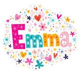 eva female name decorative lettering type design