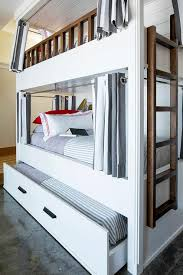 Bunk Bed With Trundle White Bunk Bed With Trundle Transitional Bedroom Benjamin