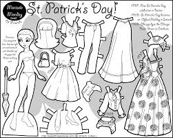 happy st patrick u0027s day a paper doll u2022 paper thin personas