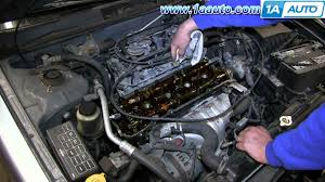 nissan versa engine diagram how to install change fix leaking oil valve cover gasket nissan