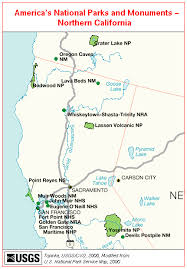 california map national parks northern california s national park and monuments map