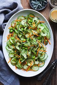 sesame ginger miso cucumber salad snixy kitchen