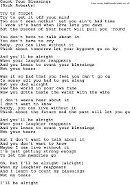 Count Your Blessings Lyrics And Chords Count Your Blessings By The Byrds Lyrics With Pdf