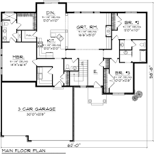 Single Story Ranch Style House Plans Ranch Style House Plan 3 Beds 2 50 Baths 1971 Sq Ft Plan 70 1116