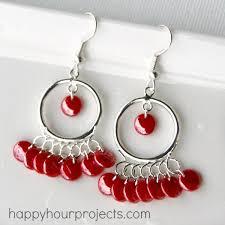 earrings ideas tangerine chandelier earrings happy hour projects