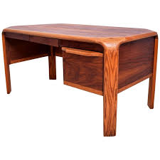 Midcentury Modern Desk - lou hodges mid century modern desk walnut and oak for sale at 1stdibs