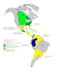America North And South Map by Stimulants And Narcotics In Religious Use In North And South America
