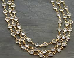 swarovski crystal chain necklace images Swarovski crystal necklace etsy jpg