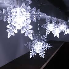 snowflake string of lights teahouse christmas lights wall decoration bar liquor cabinet door
