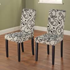 Fabric To Cover Dining Room Chairs Parson Chair Black Set Of 2 Chairs