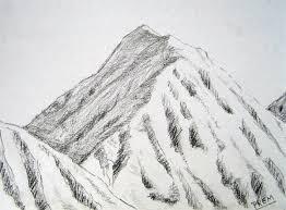 pencil drawn mountains google search sketching pinterest