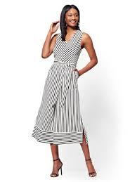white wide leg jumpsuit ny c belted wide leg jumpsuit black white stripe