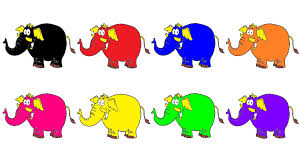 learn colours kids elephant colouring pages colors