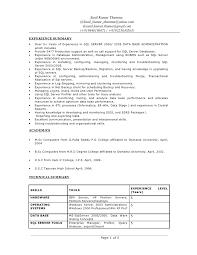sample sql server dba resume example server administration sample