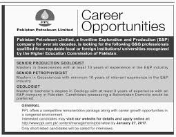 Resume Apply Job by Pakistan Petroleum Ltd Jobs 2017 Available For 3 Vacancies