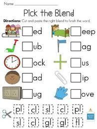 l blends worksheets pack worksheets long vowels and cut and paste