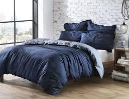veneto blue linen quilt cover bed bath n u0027 table