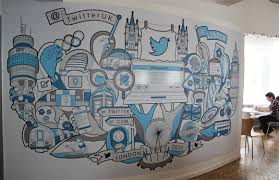 Google Office Design Philosophy 21 Incredibly Cool Design Office Murals Office Walls Wall