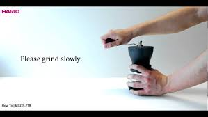 Hario Mini Mill Slim Coffee Grinder Hario Ceramic Coffee Grinder Instruction Movie Youtube