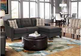 Rooms To Go Living Room Furniture by Cindy Crawford Home Madison Place Slate 8 Pc Sectional Living Room