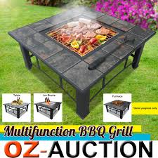 palm springs patio heater multi function outdoor fire pit bbq table grill ice bucket patio