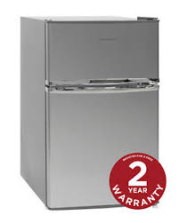 under cabinet fridge and freezer russell hobbs rhucff50ss 50cm wide stanless steel under counter