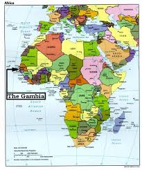 africa map gambia dan the gambian