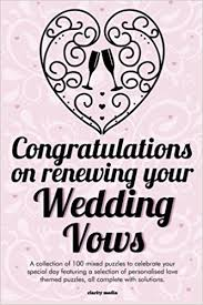 vow renewal cards congratulations congratulations on renewing your wedding vows puzzle book clarity