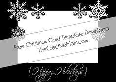 free christmas card templates the creative momthe creative mom
