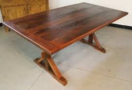 custom made farm tables hand crafted rustic farm table with x base by ecustomfinishes
