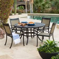 Wrought Iron Patio Dining Set - furniture black wrought iron dining table with chair placed on