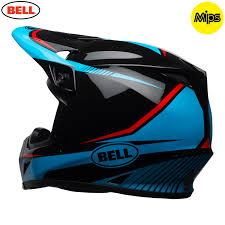 bell motocross helmet 2018 bell mx 9 mips helmet torch black cyan red