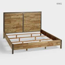 wood and metal aiden bed world market
