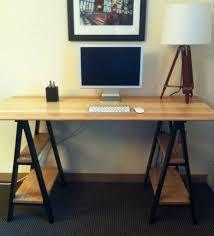sawhorse desk desks multipurpose room and office setup