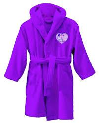 peignoir violetta sortie de bain 6 à 8 ans violetta