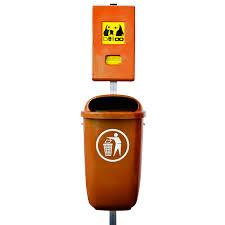 orange si e social kombination belloo boxx beutelspender abfallbehälter in orange aus